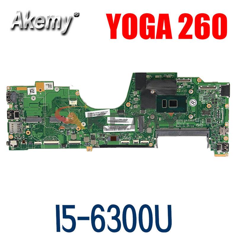 اللوحة لابتوب لينوفو ثينك باد اليوغا 260 I5-6300U SR2F0 I5-6300U اللوحة LA-C581P 00NY955