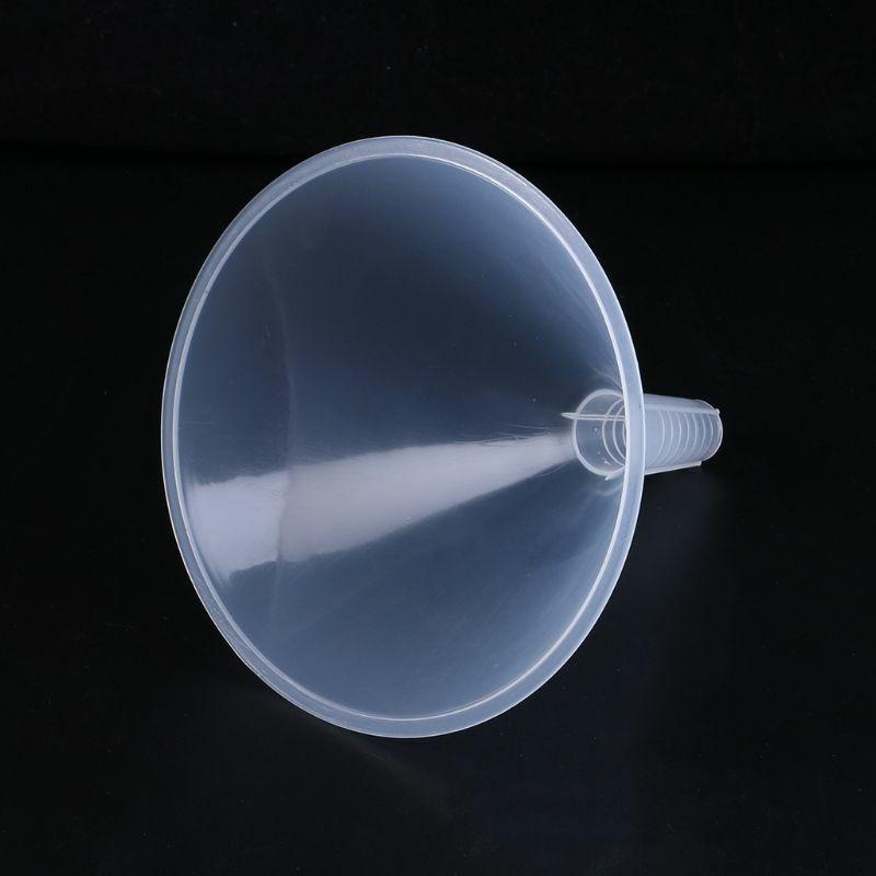 قمع بلاستيكي شفاف أبيض 150 مللي متر للجراج/سوائل السيارة/المختبر/المطبخ E7CA