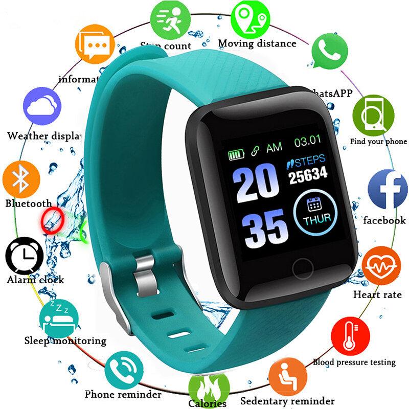 2021 ساعة ذكية الرجال النساء معدل ضربات القلب اللياقة البدنية معدل ضربات القلب الدم سوار ساعة دعوة IP67 مقاوم للماء الرياضة Smartwatch لنظام أندرويد