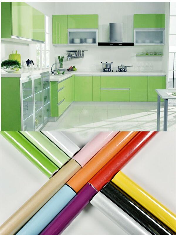 طبقة للزينة ورق حائط ذاتي اللصق أثاث غرفة المعيشة الحديثة تجديد ملصقات خزانة المطبخ خلفية مقاومة للمياه