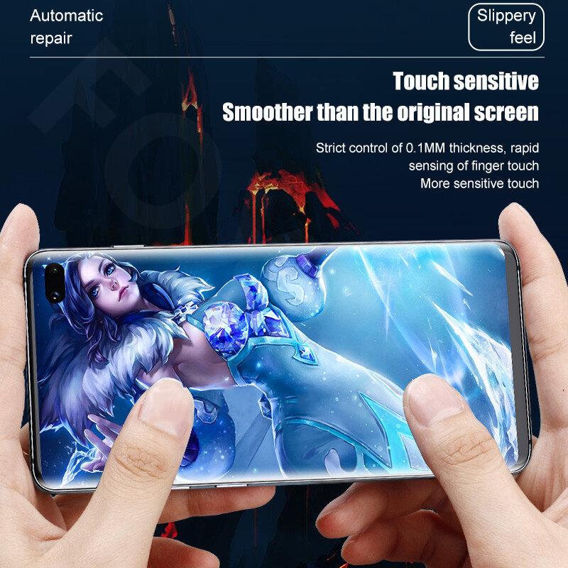4 قطعة هيدروجيل فيلم حامي الشاشة لسامسونج غالاكسي S8 S9 S10 زائد S20 FE S21 الترا لسامسونج نوت 20 10 حامي الشاشة