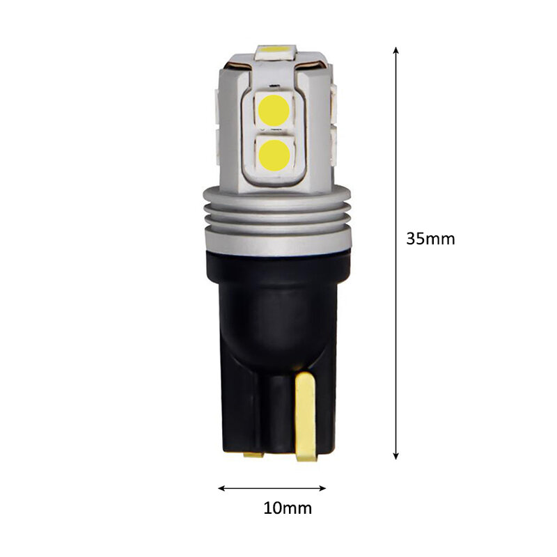 T10 Led سيارة الداخلية لمبة Canbus خطأ مجاني T10 الأبيض 3030 10SMD LED DC12V سيارة الجانب إسفين ضوء