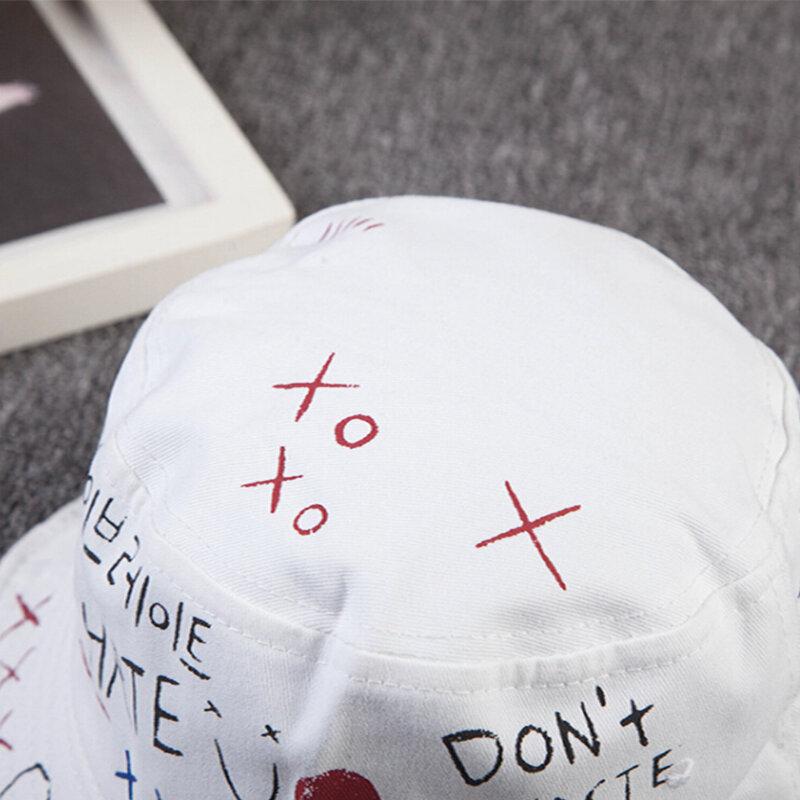 1 قطعة للجنسين المتناثرة دلو قبعة الصيد في الهواء الطلق الهيب هوب كاب الرجال الصيف ل الصياد قبعة المرأة