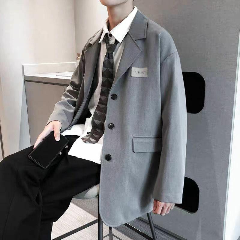 2021 ملابس الشارع الكورية بدل رجالي سترات بلازر رسمية كبيرة الحجم للرجال لوس هومبر تشاكيتاس واي أمريكاناس فيست هوم