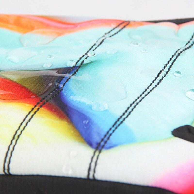 النساء التزلج قفازات أنيقة الطباعة مقاوم للماء يندبروف عدم الانزلاق مرنة الثلوج التزلج قفازات الشتاء قفازات دافئة