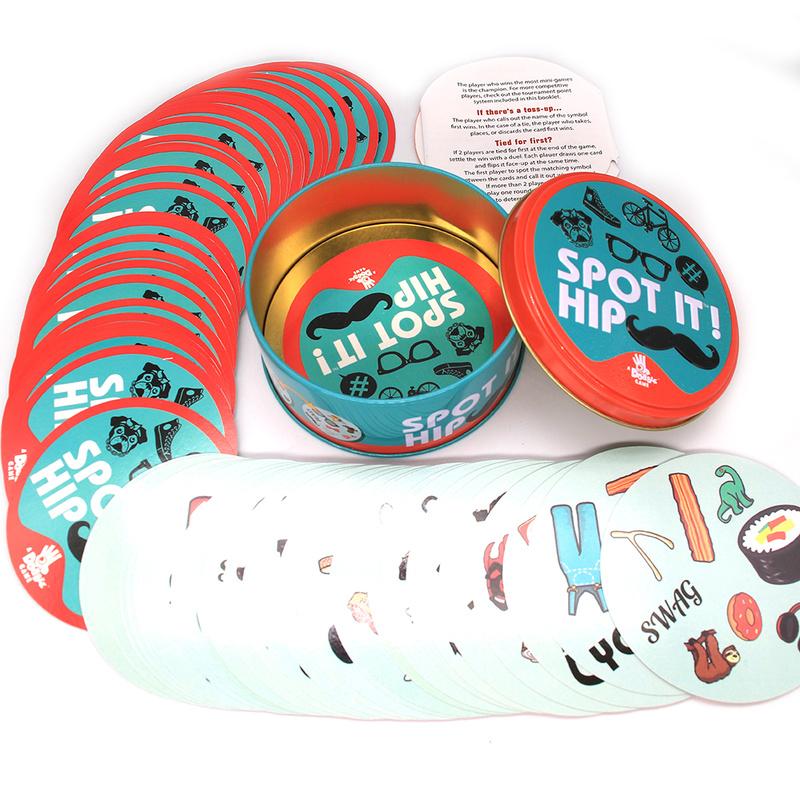 بقعة It لعبة طاولة الصناديق المعدنية ألعاب لجمع صندوق معدني لعبة ببطاقات ورقية لجميع أفراد الأسرة كلاسيكي أحمر للأطفال ألعاب تعليمية