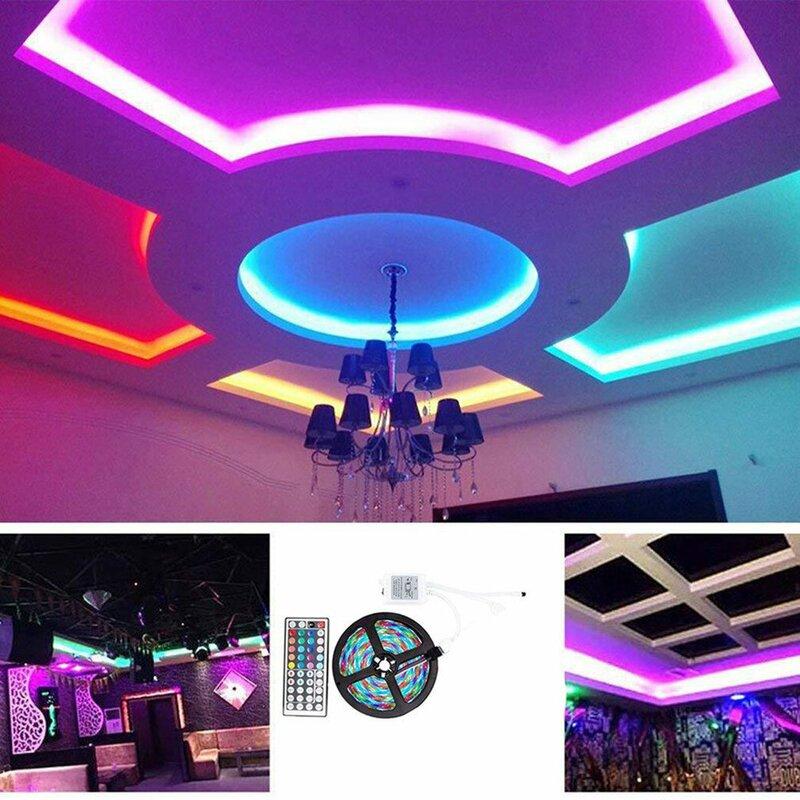 SMD3528 600 12vRGB مصباح 1 متر مع مجموعة Led لوحة عارية 44 مفتاح سرادق الملونة مع مجموعة ل خزانة الممر الممر الإضاءة