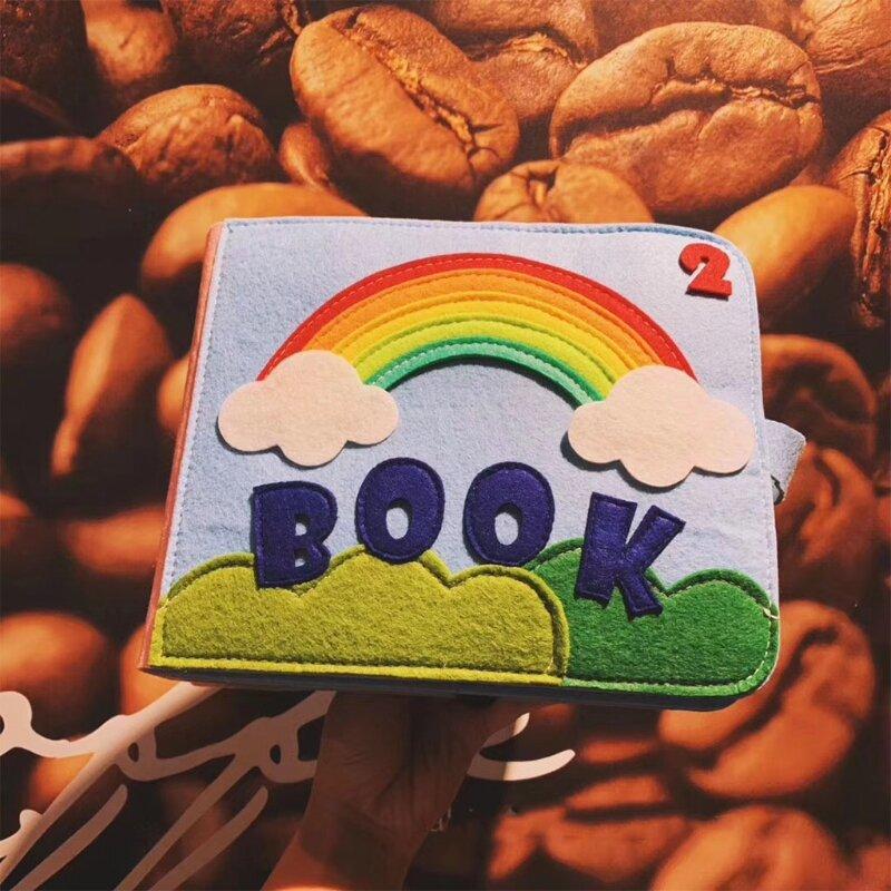 N7ME الطفل مشغول كتاب ثلاثية الأبعاد كتاب القماش التعليم المبكر عادات جيدة لعبة تدريب