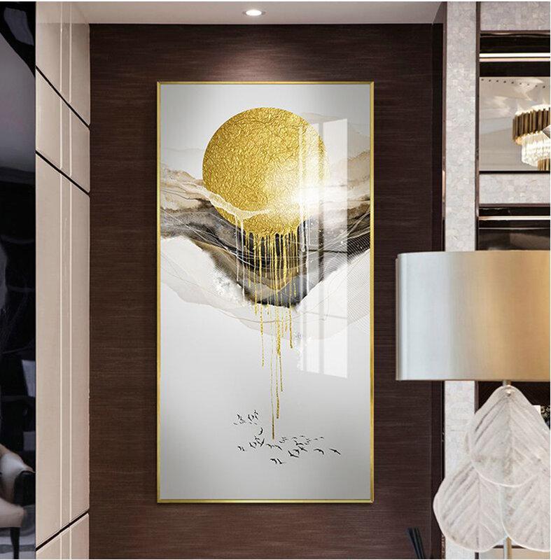 الإبداعية النمط الصيني المشهد الذهبي شجرة الشمس الحديثة الزخرفية صورة مطبوعة على القماش الجدار ملصق فني لغرفة الشرفة مكتب ديكور