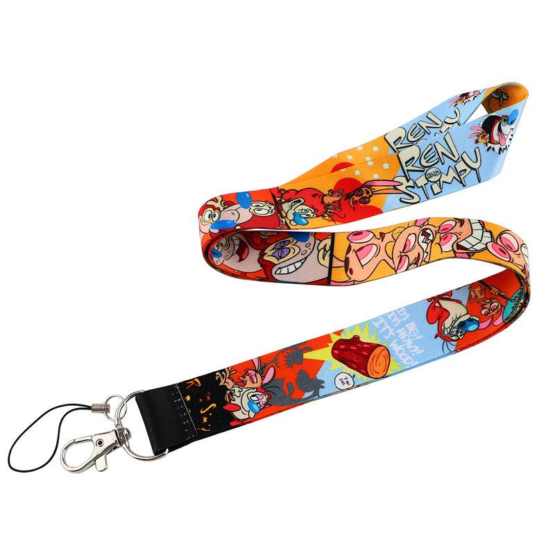 Flyingbee X2299 الكرتون تظهر شخصية حامل بطاقات التعريف الشخصية حافلة حامل بطاقة الموظفين الحبل ل مفاتيح الهاتف Rope بها بنفسك شنق حبل