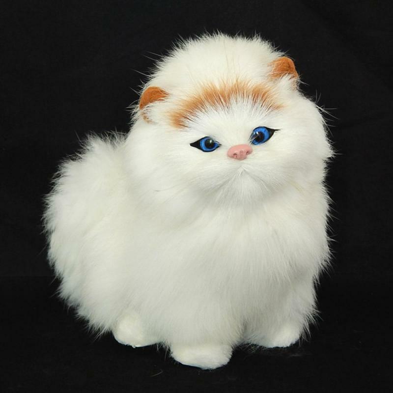 قطة جميلة وواقعية للأطفال ، لعبة داخلية مشعر ، هدية رأس السنة الجديدة للأولاد أو البنات ، الأكثر مبيعًا ، 2020