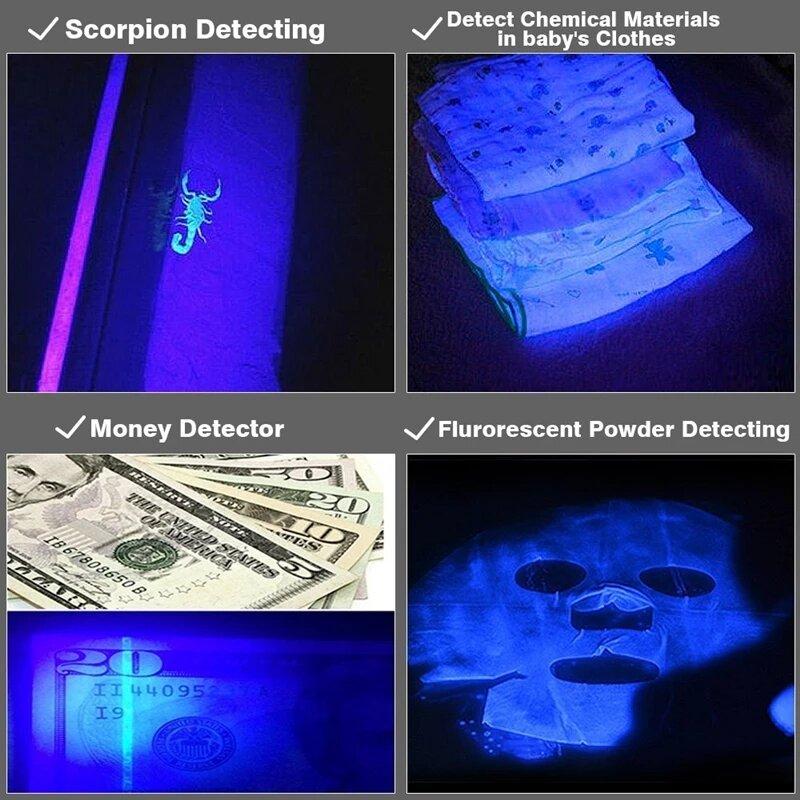 الأشعة فوق البنفسجية مصباح يدوي LED مصباح صغير تلسكوبي التكبير الترا البنفسجي ضوء الأشعة فوق البنفسجية ضوء أسود الحيوانات الأليفة البول البق...