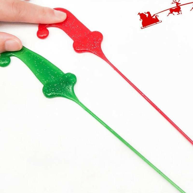 قبعة عيد الميلاد اللاصقة للأطفال ، لعبة لطيفة ، مرنة ، ناعمة ، قابلة للتمدد ، قبعة عيد الميلاد ، Q2D1
