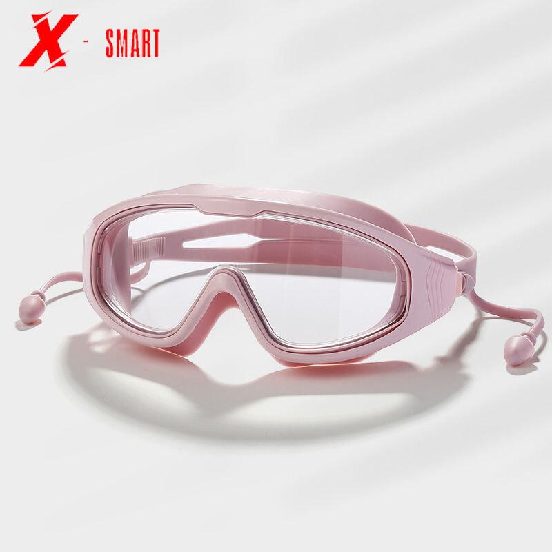 موضة نظارات الوقاية للسباحة نظارات السباحة سدادات الكل في واحد معدات الضباب الوردي الأسود الأزرق للجنسين مقاوم للماء نظارات