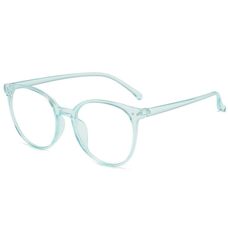 2021 اتجاهات مكتب مكافحة الضوء الأزرق المتضخم الرجعية نظارات الكمبيوتر النساء الأزرق حجب الألعاب كبيرة الحجم للرجال النظارات الإطار