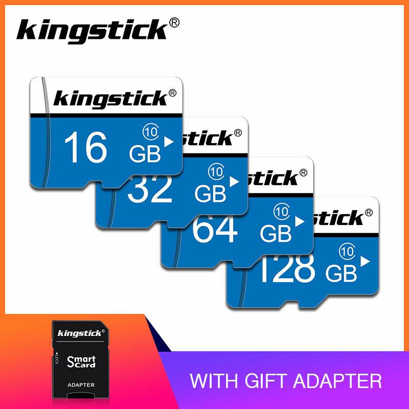 Kingstick مايكرو SD بطاقة الذاكرة بطاقة 8 جيجابايت 16 جيجابايت كارت sd ميموريا 32 جيجابايت 64 جيجابايت 128 جيجابايت C10 بطاقة SD صغيرة TF بطاقة UHS-I للهاتف ال...
