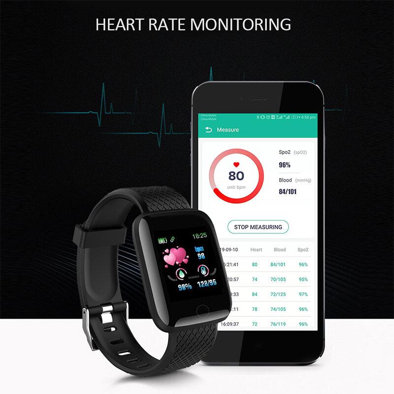 ساعة ذكية النساء الرجال الاطفال معدل ضربات القلب ضغط الدم رصد مقاوم للماء الرياضة ساعة ذكية ساعة للأندرويد IOS