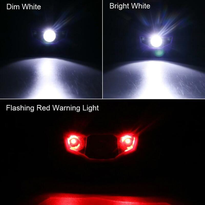 المحمولة رئيس الشعلة مصباح دراجة دراجة الضوء الأحمر السوبر مشرق السلع الرياضية كشافات عالية الطاقة التخييم الصيد 4 طرق