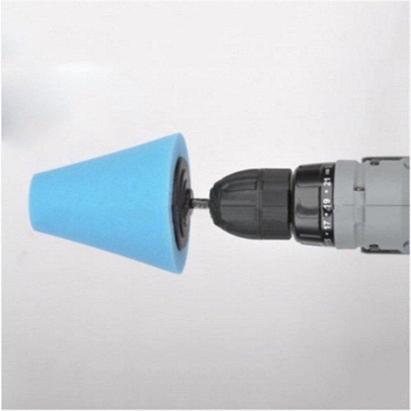 إسفنجة تلميع عجلة السيارات المستخدمة في الحفر الكهربائية 3 بوصة/4 بوصة تلميع الكرة تلميع مخروط محور السيارة التلميع الإسفنج