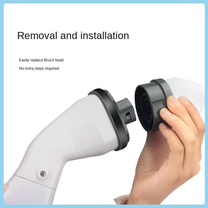 فرشاة تنظيف منزلية كهربائية قابلة للشحن مع رؤوس قابلة للانفصال فرشاة تنظيف حمام مطبخ المرحاض أدوات نظيفة 2021