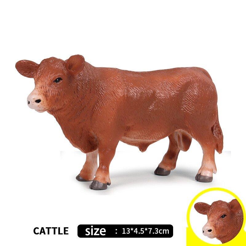 البلاستيك محاكاة الماشية الحيوانات عمل أرقام ساكنة لطيف نموذج جمع اللعب للأطفال