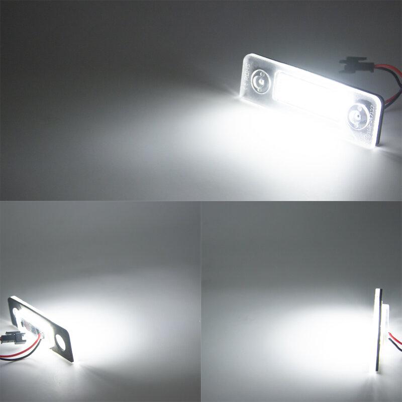 2 قطعة LED في CANBUS لوحة ترخيص أضواء عدد لشركة فولكس فاجن سكودا اوكتافيا ll تجميل 09-12. فاسيليفتيد 2003-2012. رومستر 5J 2006-2010