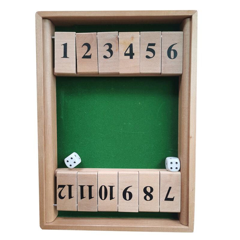 2-طريقة إغلاق صندوق النرد لعبة (1-2 لاعب) للأطفال الكبار لعبة النرد