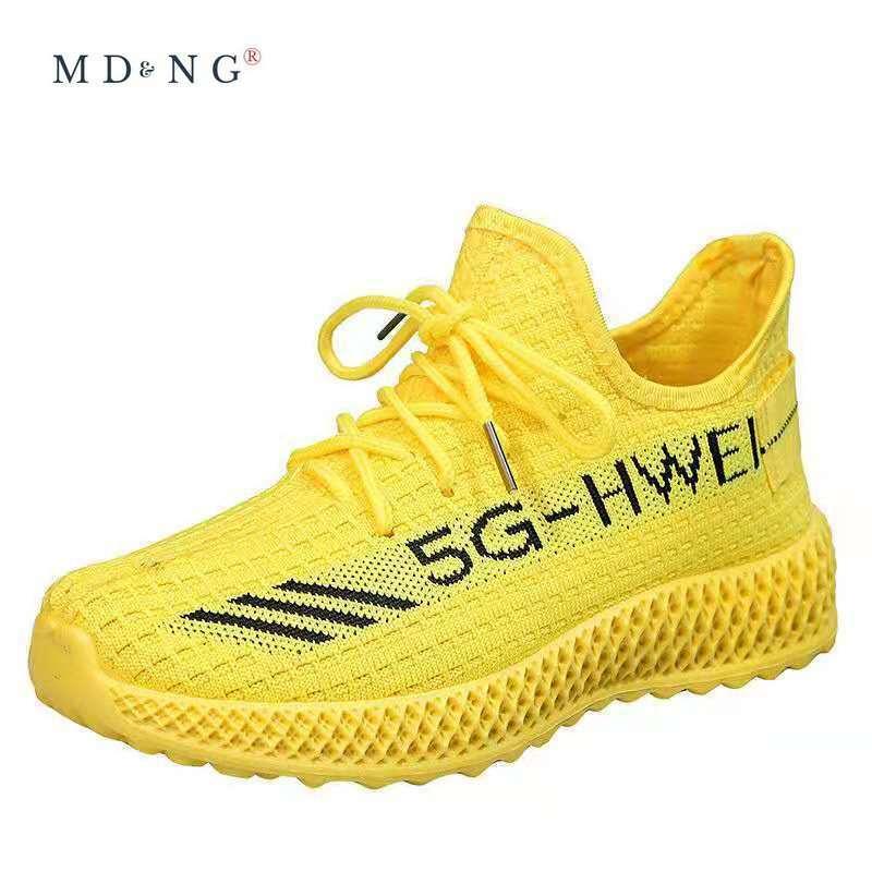 MDNG 2021 صيف ربيع جديد حذا فردي للسيدات الرياضة الرياح عادية تحلق الحياكة أحذية نسائية حذا فردي للسيدات أحذية رياضية