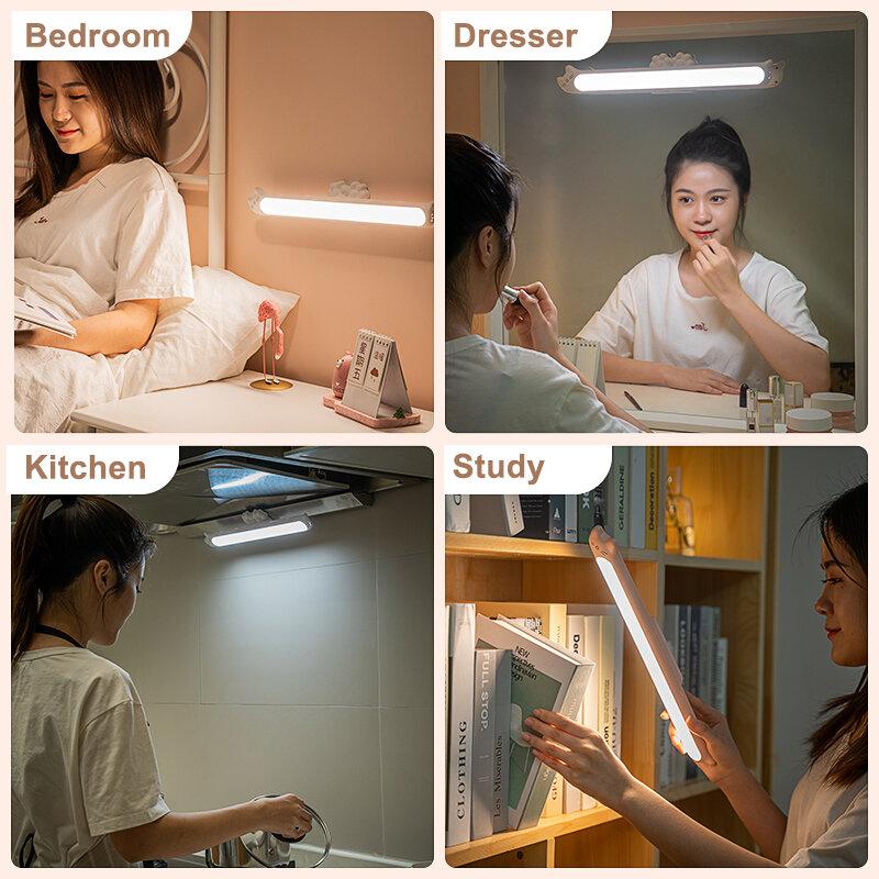 لمبة مكتب عكس الضوء اللمس Led مصابيح للقراءة لغرفة مصباح الطاولة تحت خزانة ليلة ضوء الجدار مصباح المغناطيسي USB شحن القط