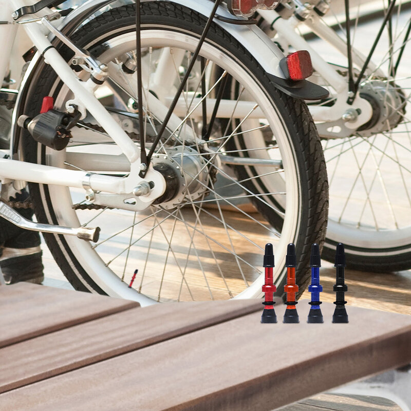 دراجة 1 زوج 48 مللي متر/60 مللي متر/78 مللي متر Presta عن الطريق لايحتاج حافة سبائك أو النحاس الجذعية النحاس النواة W/كاب و أداة