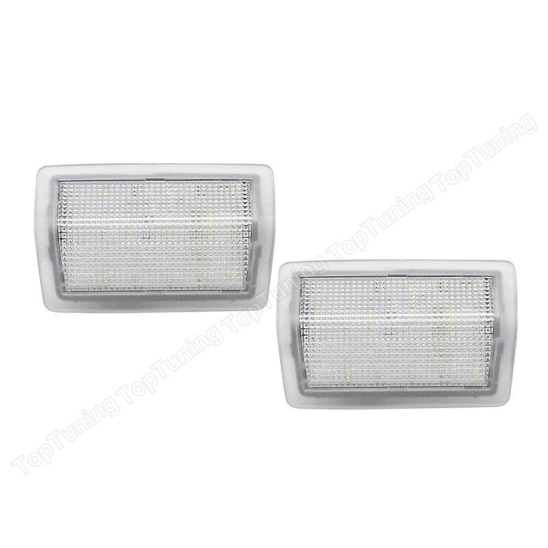 2 قطعة الأبيض LED مجاملة مصباح سيارة الباب ضوء لمرسيدس بنز W204 11-14 W212 4D/5D 09-14 W176 12- W246 11- W166 12-