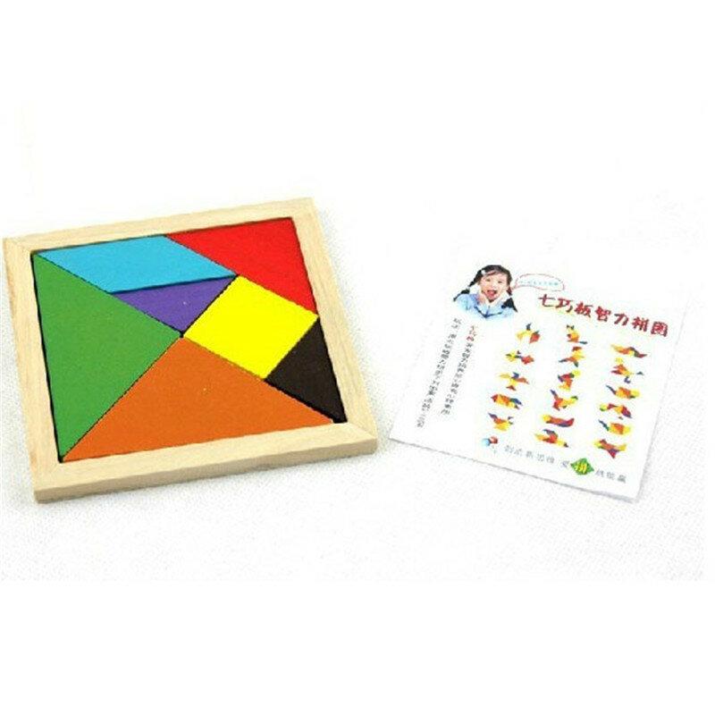 جديد IG لعبة الدماغ دعابة خشبية الهندسة تانجرام لغز شكل التنمية الفكرية المعرفية لعب الأطفال لعبة أطفال هدايا