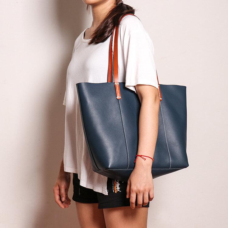 جديد رئيس جلد المرأة حقيبة كتف مفردة موضة تنوعا باليد المرأة حقيبة سعة كبيرة الطفل حقيبة الأم حمل حقيبة