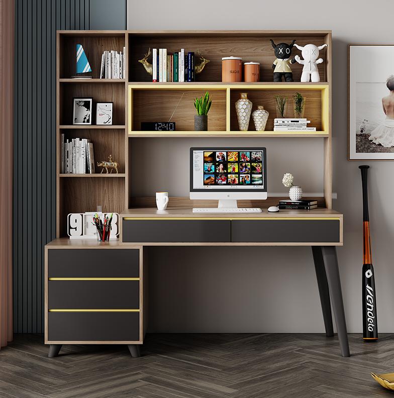 خزانة مكتب متكامل مكتب خزانة مزيج بسيط طالب المنزل الكمبيوتر مكتب مكتب غرفة نوم منضدة كتابة