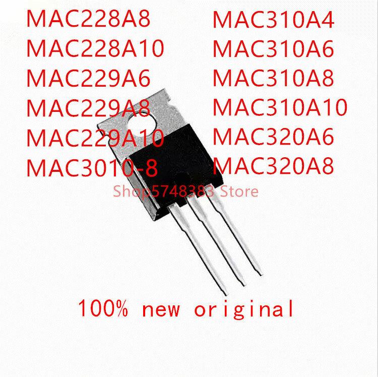 10 قطعة MAC228A8 MAC228A10 MAC229A6 MAC229A8 MAC229A10 MAC3010-8 MAC310A4 MAC310A6 MAC310A8 MAC310A10 MAC320A6 MAC320A8 إلى-220