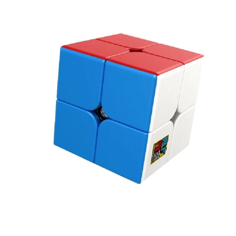 Moyu Mofangjiaoshi Meilong 2x2x2 سرعة Cubing 5.0 سنتيمتر المهنية 2x2 المكعب السحري جيب مكعب سرعة لغز 50 مللي متر ألعاب تعليمية