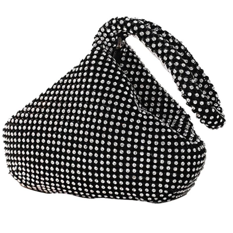 المرأة مثلث بلينغ بريق محفظة الراين مخلب مساء حقائب فاخرة للحزب حفلة موسيقية d88