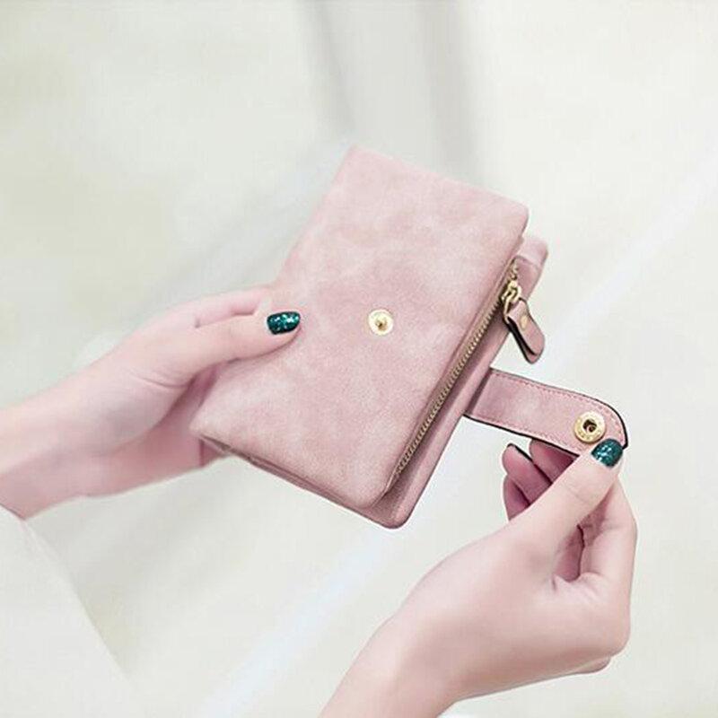 محفظة نسائية محفظة جلدية 2020 ماتي محفظة قصيرة كارتيرا موهير لطيف ثلاثي أضعاف محفظة متعددة بطاقة الإناث