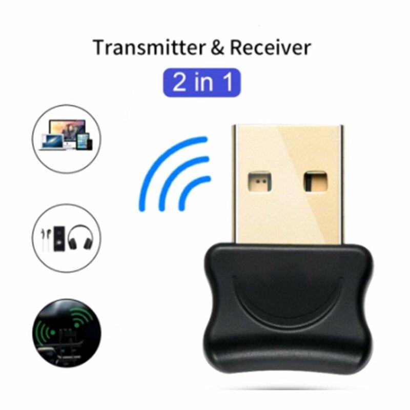 5.0 بلوتوث متوافق محول USB الارسال ل جهاز كمبيوتر شخصي مستقبلات محمول سماعة الصوت طابعة البيانات دونغل استقبال