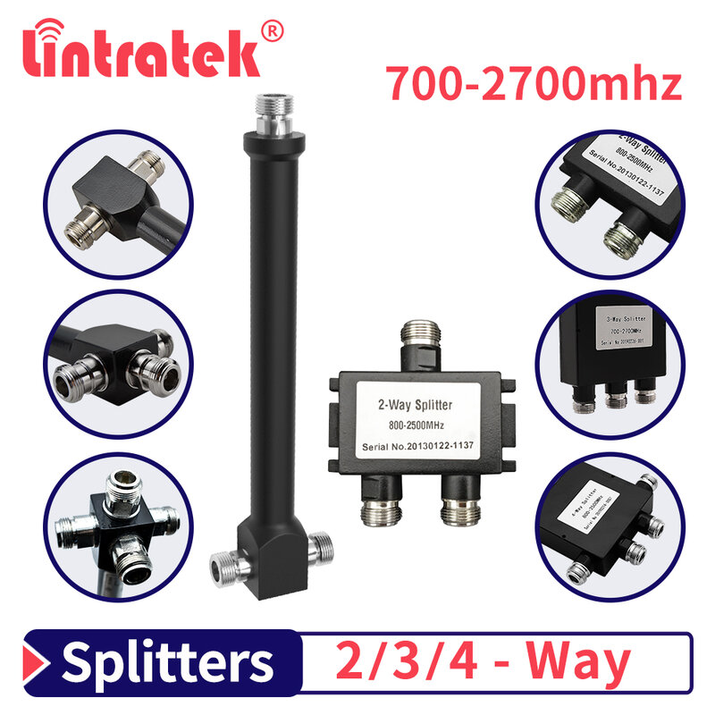 Lintratek 700/800-2700/2500mhz قوة Divrider 2/3/4 طريقة 2G 3G 4G السلطة الخائن ل إشارة الداعم مكرر هوائي N-أنثى