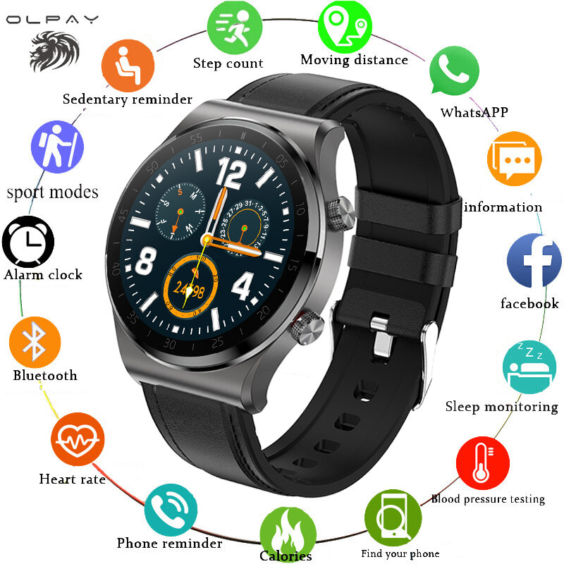 2021 بلوتوث دعوة ساعة ذكية مراقب معدل ضربات القلب اللياقة البدنية الرياضة الساعات الطقس عرض نشاط المقتفي مقاوم للماء Smartwatch