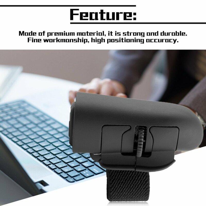 Mini Cute التوصيل والتشغيل 2.4GHz اللاسلكية خواتم الاصبع الفأرة البصرية 1600 ديسيبل متوحد الخواص مع USB استقبال للكمبيوتر المحمول سطح المكتب