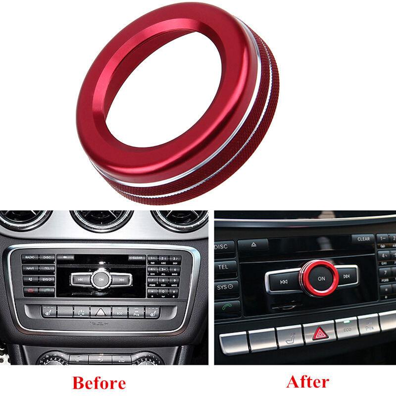 غطاء سيارة سلك من حلقات للزينة تقليم 1 قطعة الأحمر لمرسيدس بنز السيارات W176 W246