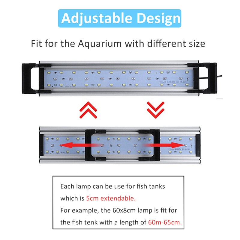 مصباح نافورة كرية ل 20-65 سنتيمتر خزان الأسماك مقاوم للماء المائية Phytolamp للنبات مشرق مصباح بمشبك مع الموقت تحكم 3H 6H 12H