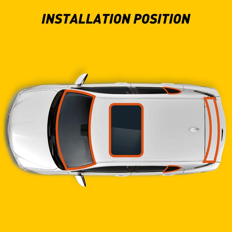 1 قطعة العالمي 3M سيارة مانع تسرب للباب نافذة ختم قطاع T نوع الزجاج الأمامي مانع تسرب مطاطي حافة حامي عازل للضوضاء