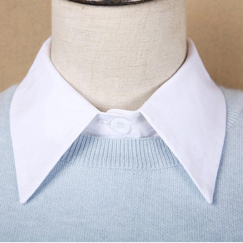1 قطعة قميص أسود أبيض وهمية طوق الدانتيل خمر انفصال طوق كاذبة طوق التلبيب بلوزة أعلى ملابس حريمي اكسسوارات