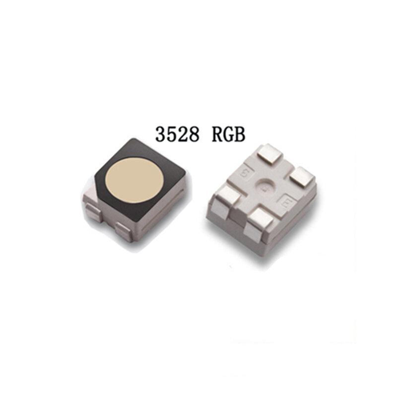 2000 قطعة 3528 RGB LED سطح أسود كامل اللون 1210 مصلحة الارصاد الجوية المصابيح 20mA (الأنود المشترك) PLCC-4 المياه واضحة/منتشرة