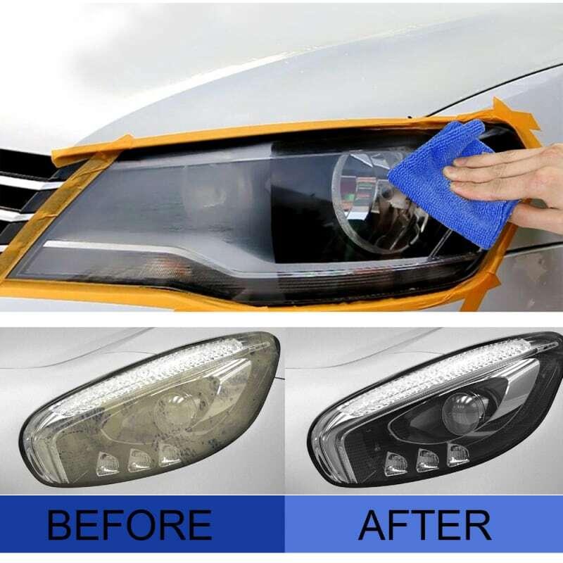 20 مللي سيارة العلوي إصلاح طلاء الحل طقم تصليح طلاء الرؤية الخلفية المصباح تلميع خدش الكراك استعادة السائل TSLM
