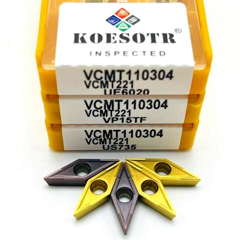 10 قطعة VCMT110304 UE6020 VP15TF US735 باستخدام الحاسب الآلي الفولاذ المقاوم للصدأ التنغستن كربيد تحول أداة VCMT 110304 عززت شفرة من الكربيد