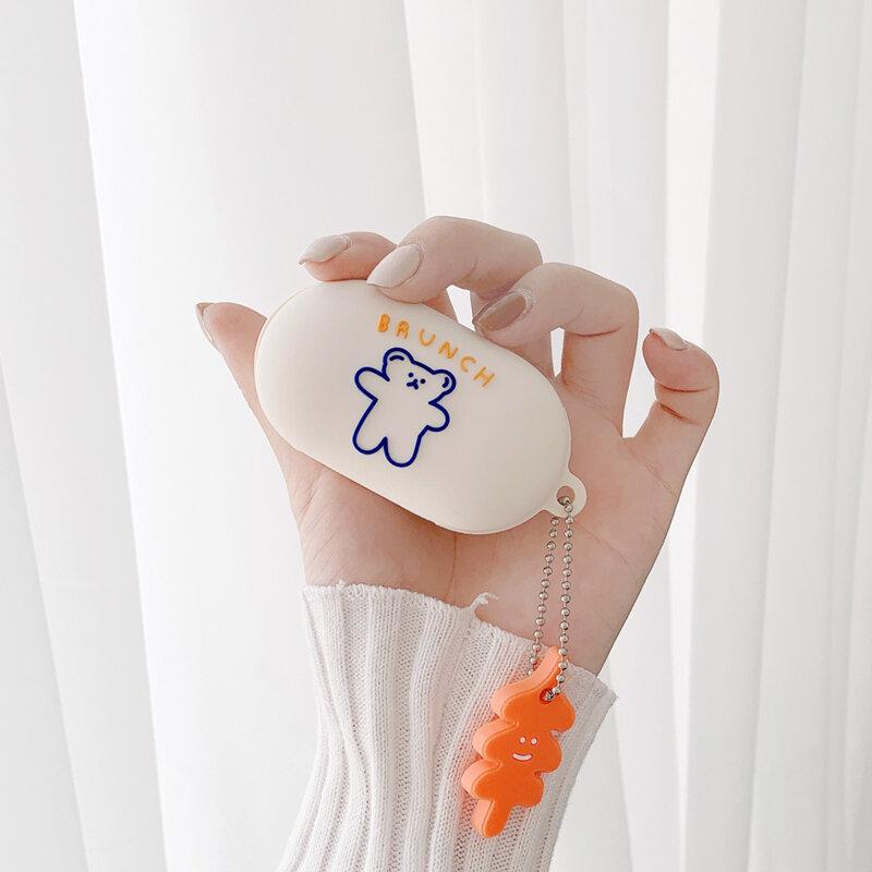 لطيف ل غالاكسي براعم زائد حافظة أنيمي الكرتون سيليكون لينة قذيفة مع المفاتيح سماعة اكسسوارات غطاء ل غالاكسي براعم حافظة